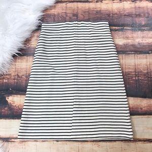 Ann Taylor Loft Black & White Striped Skirt